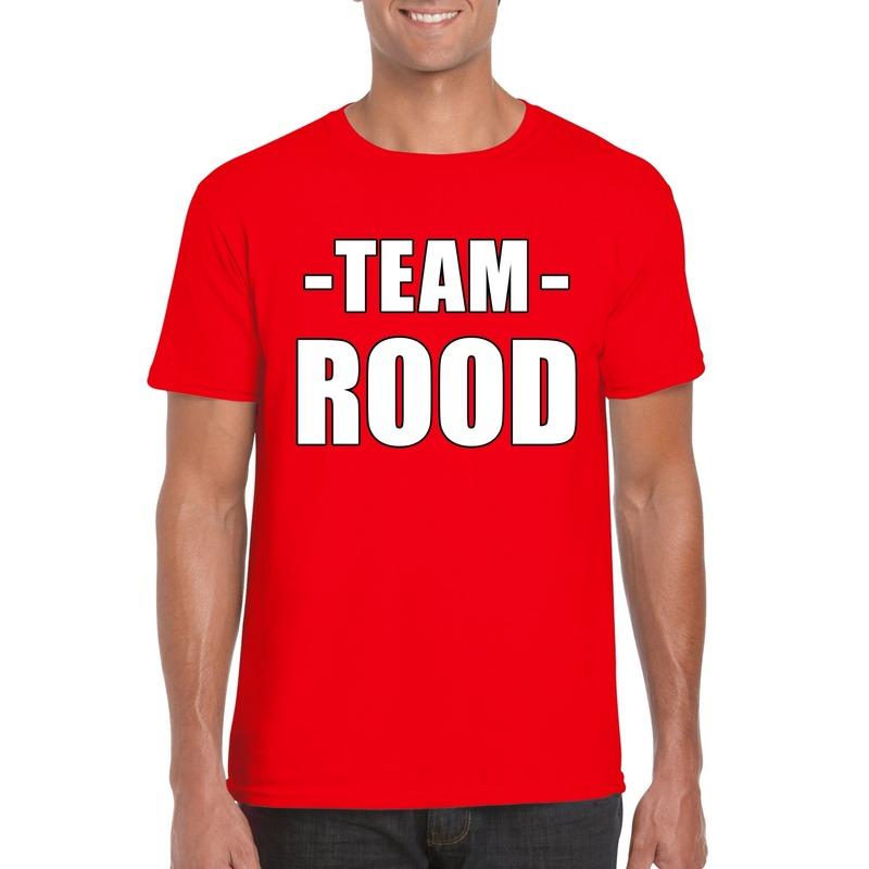 Team shirt rood heren voor bedrijfsuitje