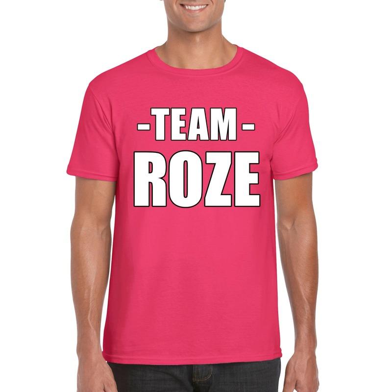 Team shirt roze heren voor bedrijfsuitje