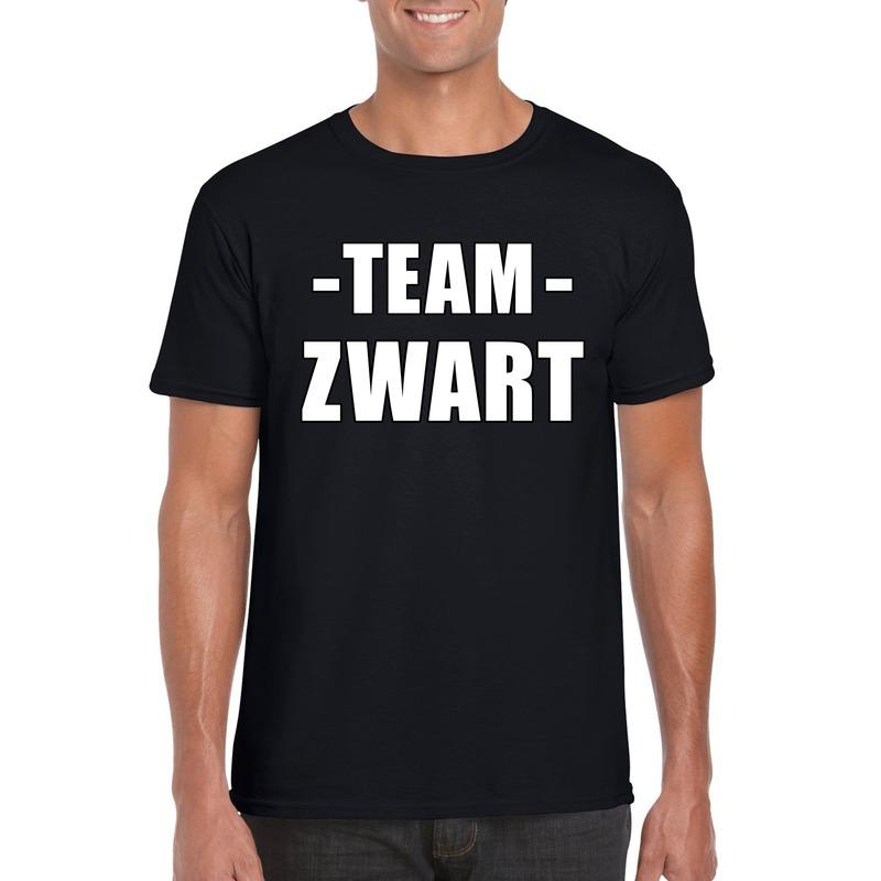 Team shirt zwart heren voor bedrijfsuitje