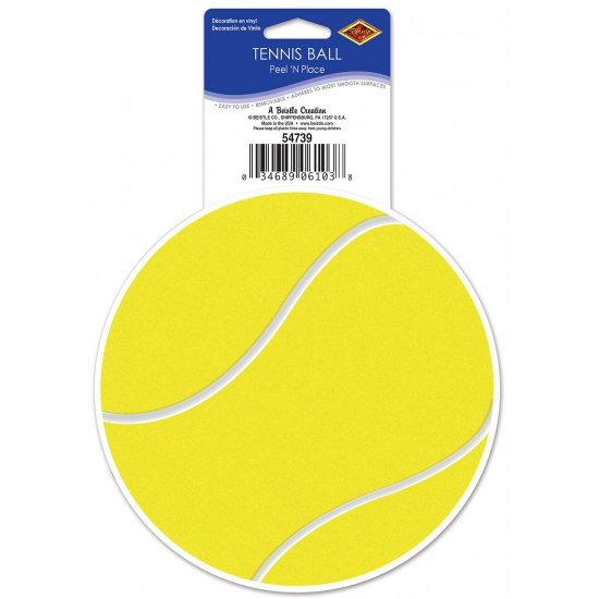 Tennis feest sticker 13 cm Geen Thema feestartikelen
