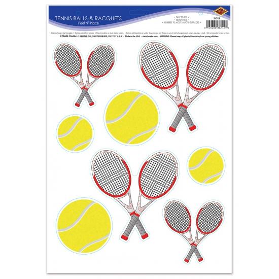 Thema feestartikelen Geen Tennis feest stickers