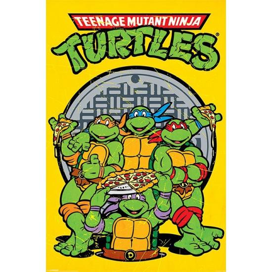 Themafeestje Turtles poster 61 x 91,5 cm Ninja Turtles laagste prijs