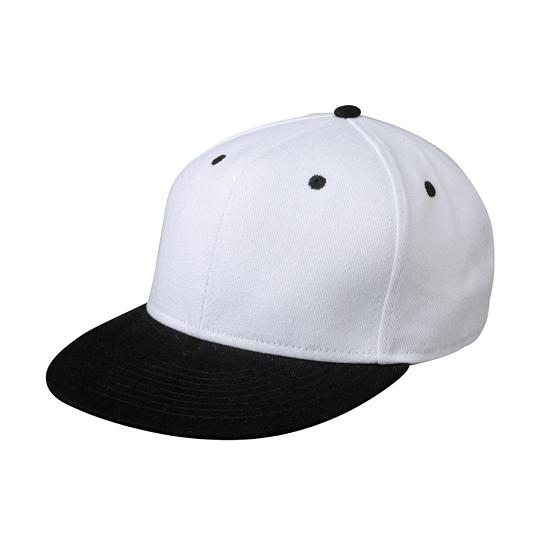 Trendy baseball cap wit/zwart