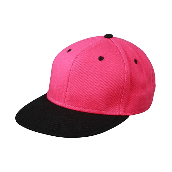 Trendy baseball cap zwart/roze