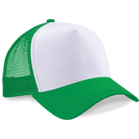 Truckers pet groen/wit katoen