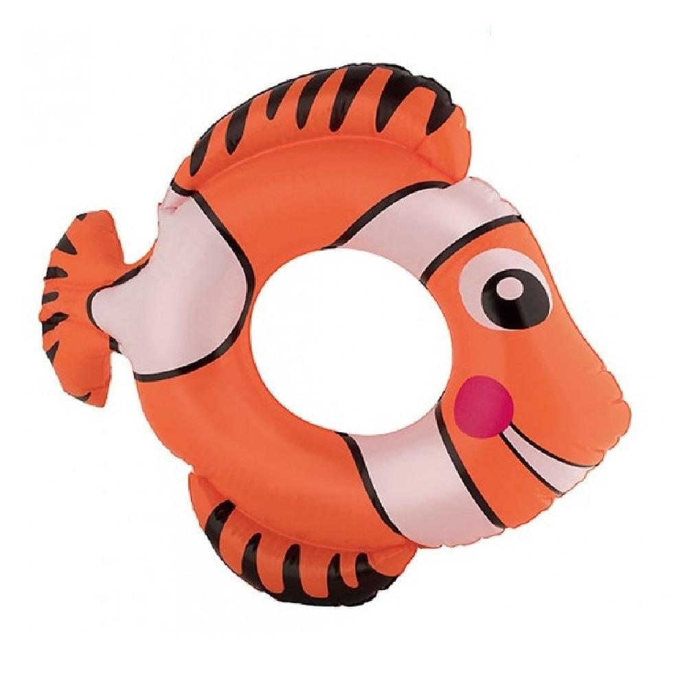Vis zwemring oranje 79 cm