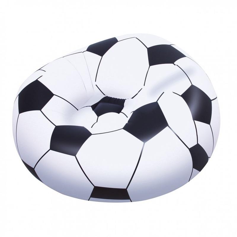 Voetbal strandstoel opblaasbaar 114 cm