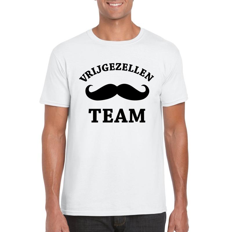 Vrijgezellenfeest Team t-shirt wit heren
