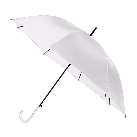 Witte paraplu 107 cm polyester/kunststof