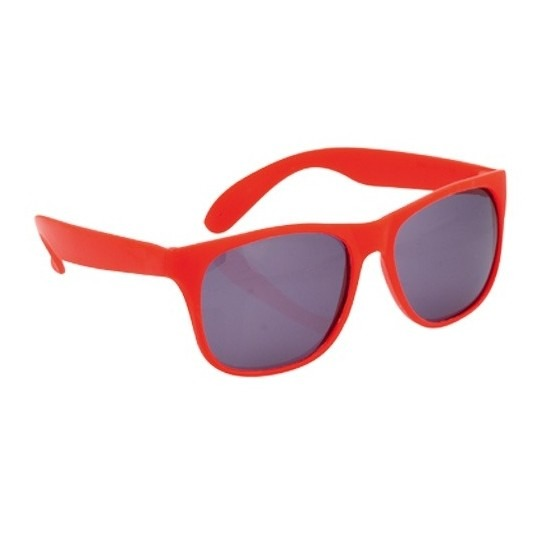 Zonnebril met kunststof rood montuur