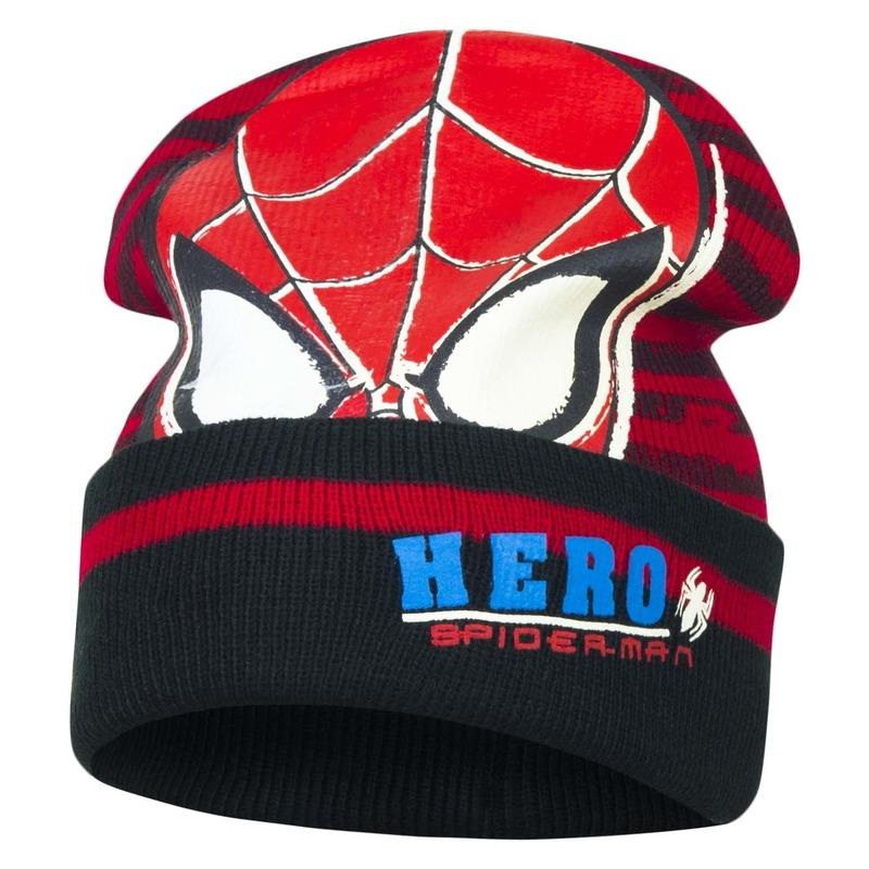 Zwart/rode Spiderman skimuts voor jongens