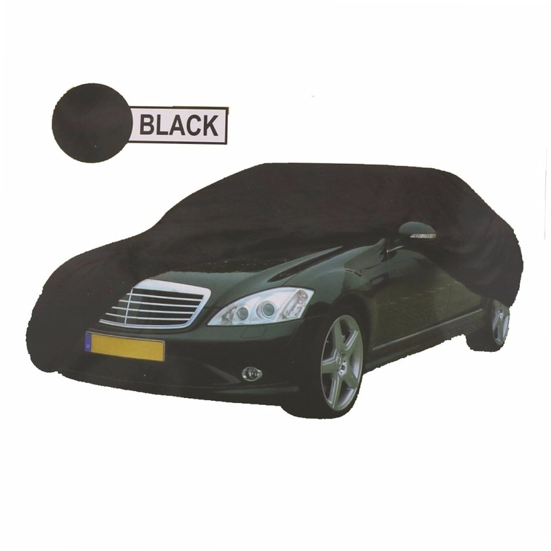 Zwarte auto cover XL 534 x 178 x 120 cm