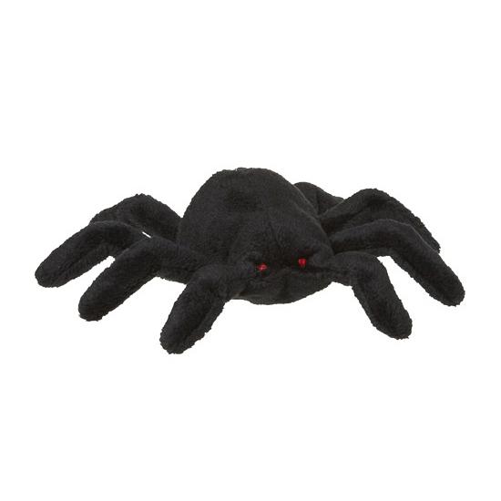 Zwarte spin knuffeltje 13 cm