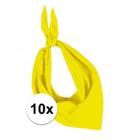 10x Bandana zakdoeken geel