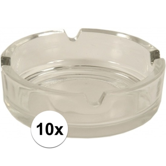 10x Glazen asbakken