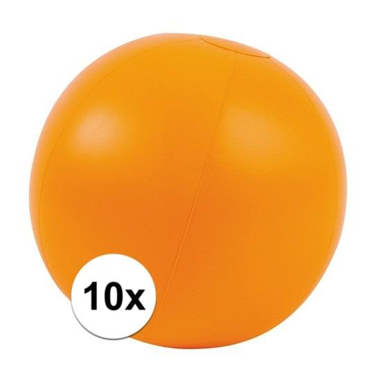 10x Opblaas strandbal oranje
