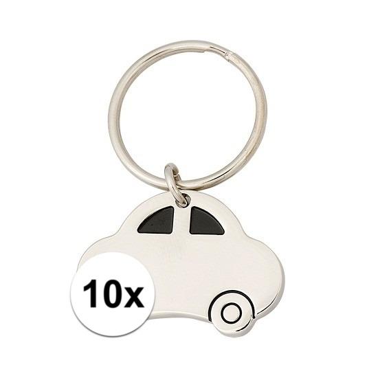 10x Sleutelhanger rijbewijs cadeau 4,5 cm Cadeau /jubileum–geslaagd/rijbewijs