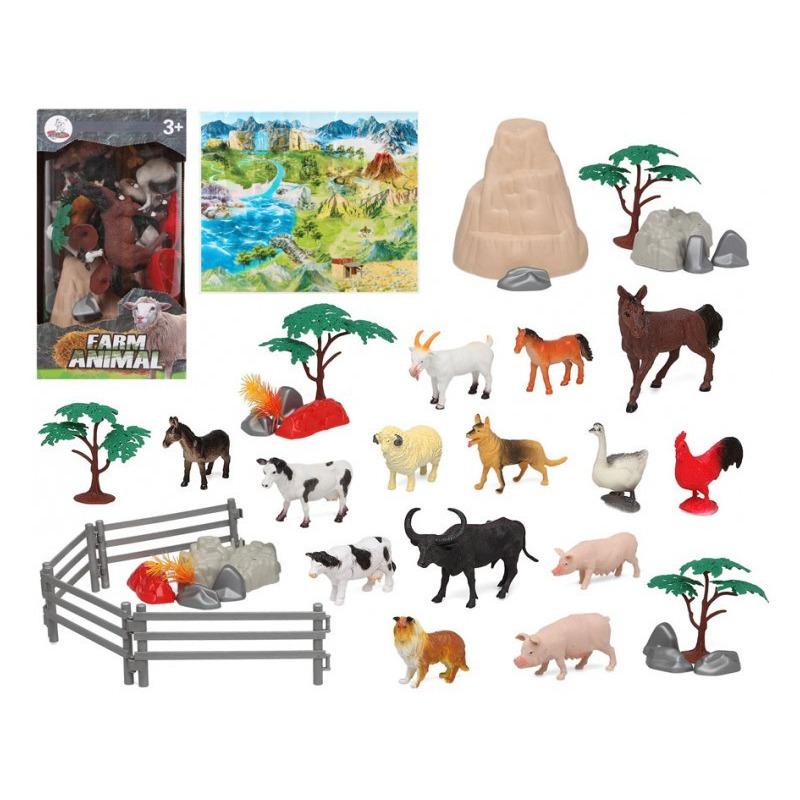 14x Plastic boerderij dieren speelgoed figuren voor kinderen