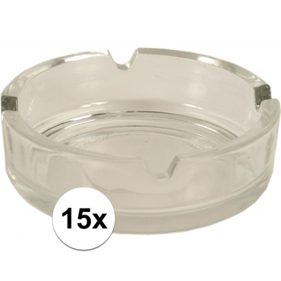 15x Glazen asbakken