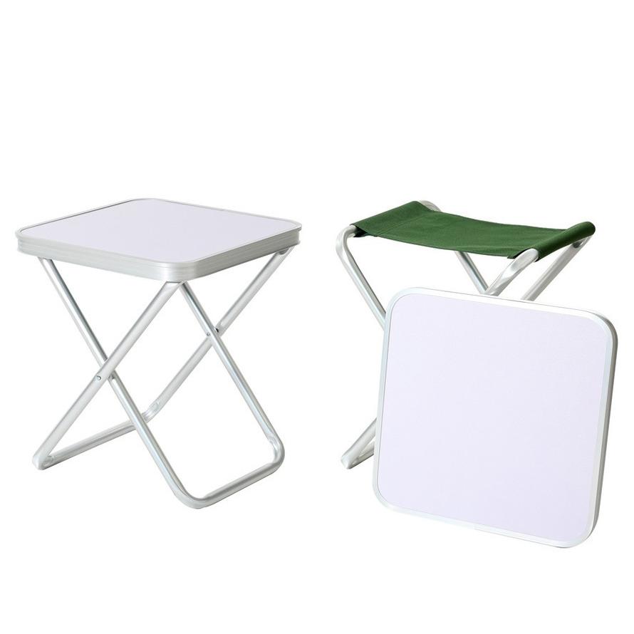 1x Handige outdoor kampeer stoelen-tafels 47 cm