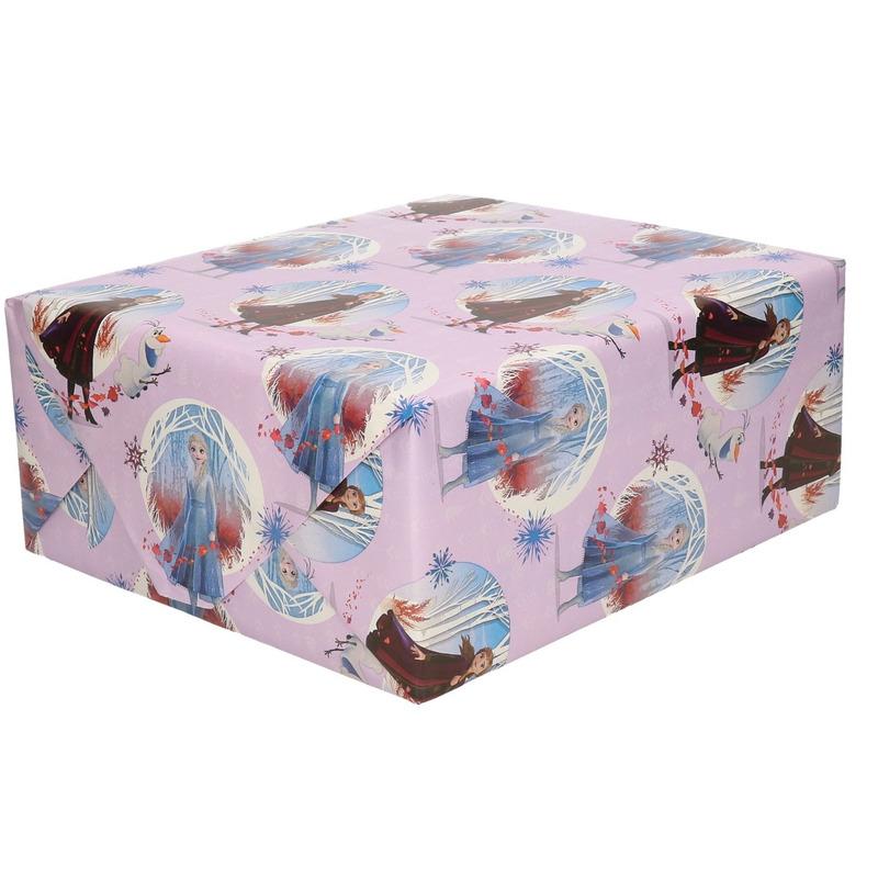1x Rollen Inpakpapier-cadeaupapier Disney Frozen lila 200 x 70 cm