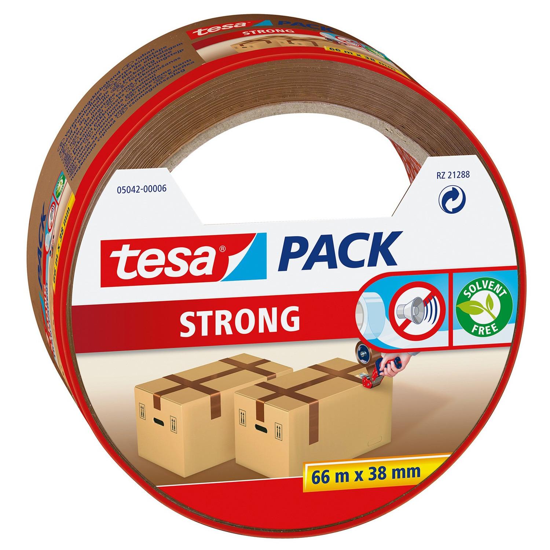 1x Tesa dozen afsluit tape bruin 66 mtr x 38 mm