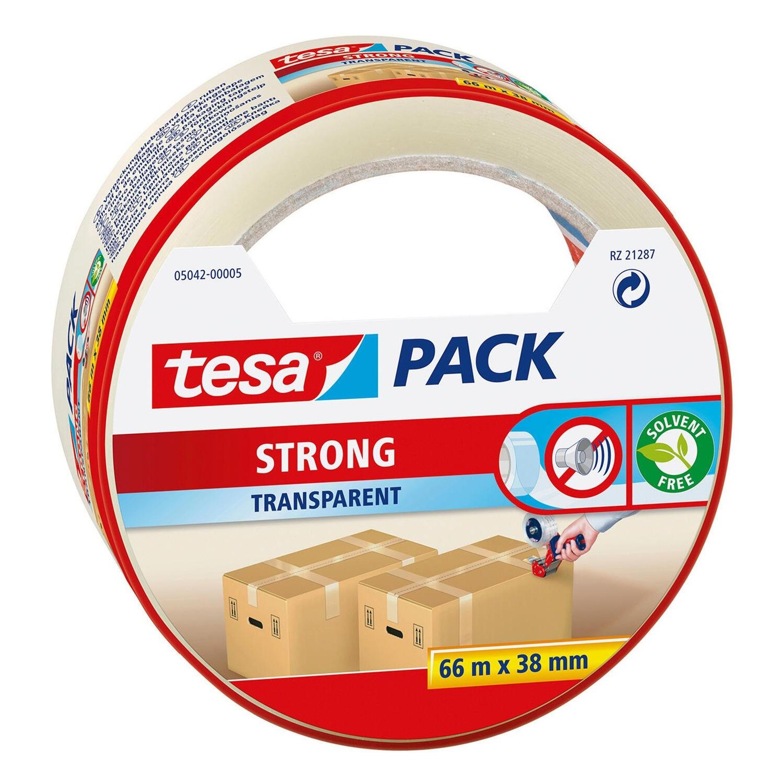 1x Tesa dozen afsluit tape transparant 66 mtr x 38 mm