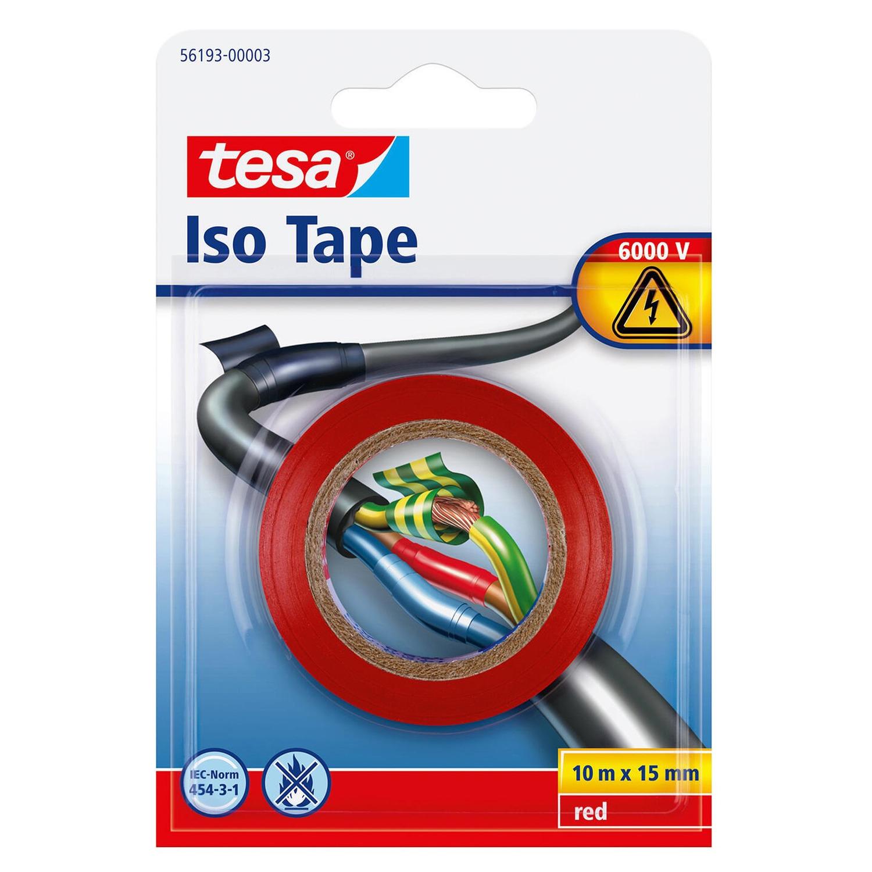 1x Tesa isolatietape voor kabels en draden 10 mtr x 1,5 cm