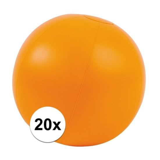 20x Opblaas strandbal oranje