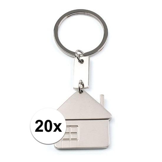 20x Sleutelhangers verhuisd 3,5 cm