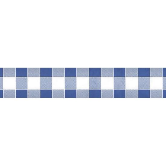 2x Feestartikelen papieren tafelkleed blauw/witte ruiten 1000 x 118 cm