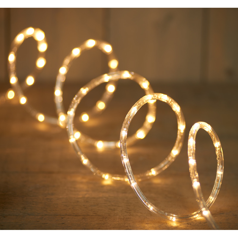 2x Feestverlichting lichtslang met 216 warm witte lampjes 9 m