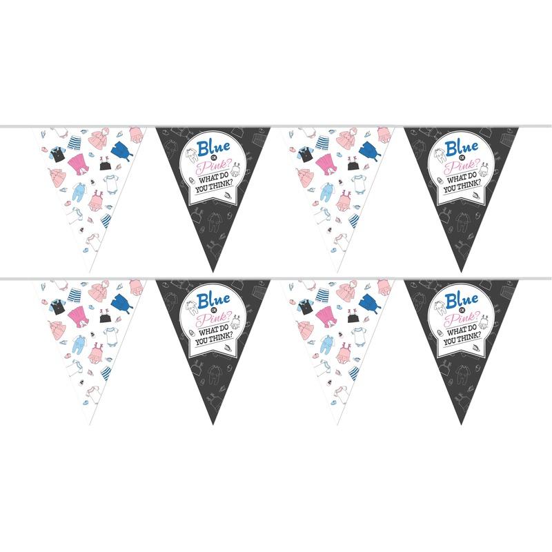 2x Geslachtsonthulling feest slingers 10 meter