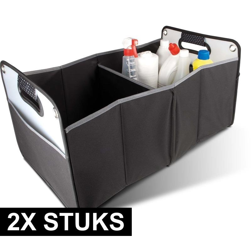 2x stuks Auto kofferbak organizers tas 35 x 30 x 60 cm