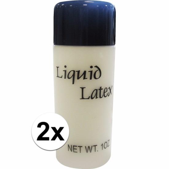 2x vloeibare liquid latex make up