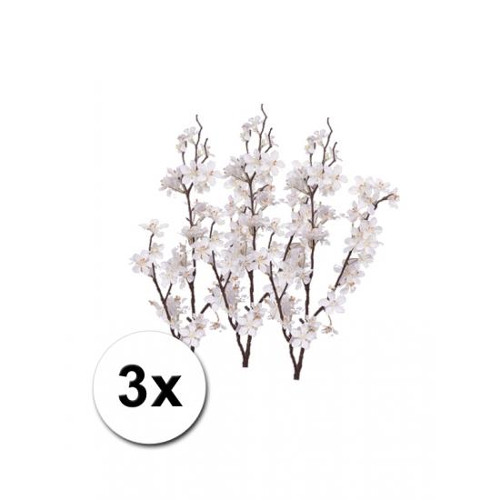 3 appelbloesem kunst takken wit 84 cm
