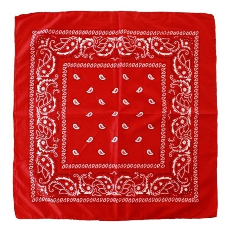 3 stuks voordelige rode boeren zakdoeken 53 x 53 cm