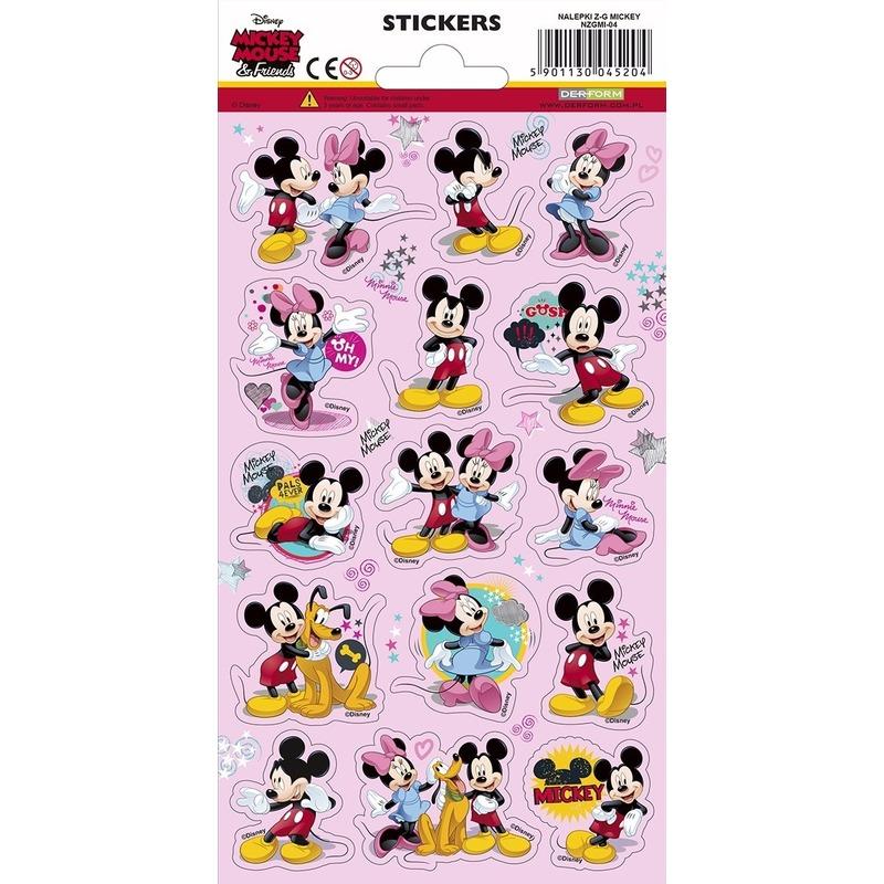 3x Disney stickers Mickey en Minnie Mouse
