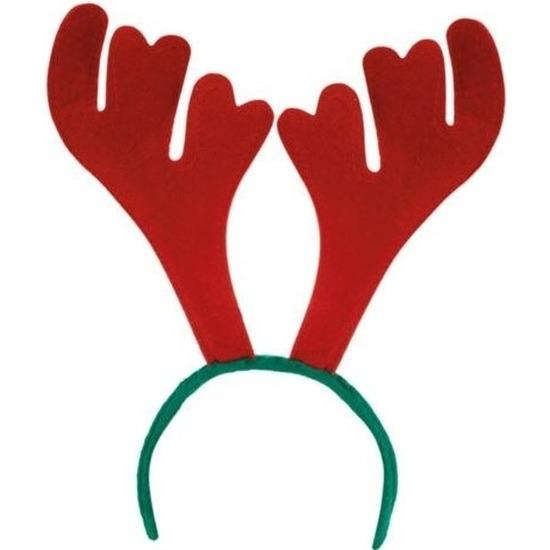 4x stuks rendier diadeem-haarband voor volwassenen kerstaccessoires