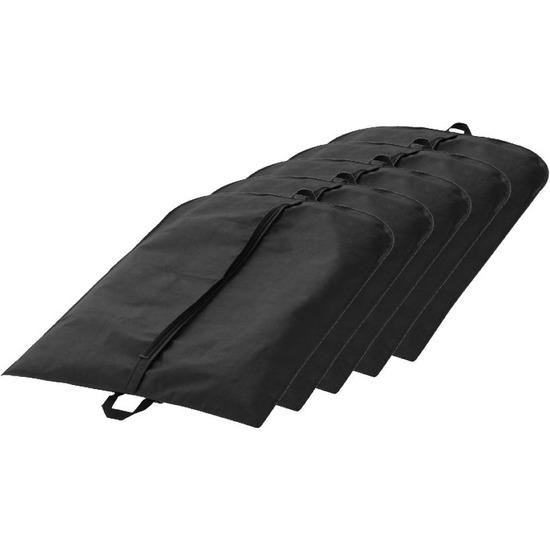 5x Colbert hoes zwart 110 x 65 cm