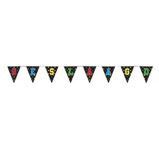 5x Vlaggenlijnen geslaagd thema feestartikelen 4 meter