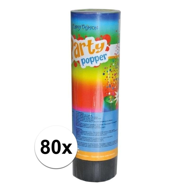 80x verjaardag party poppers