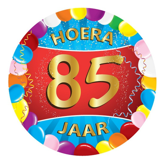 85 jaar verjaardag party viltjes