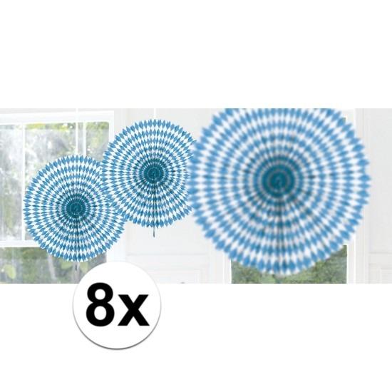 8x Bayern hangdecoratie waaier 45 cm