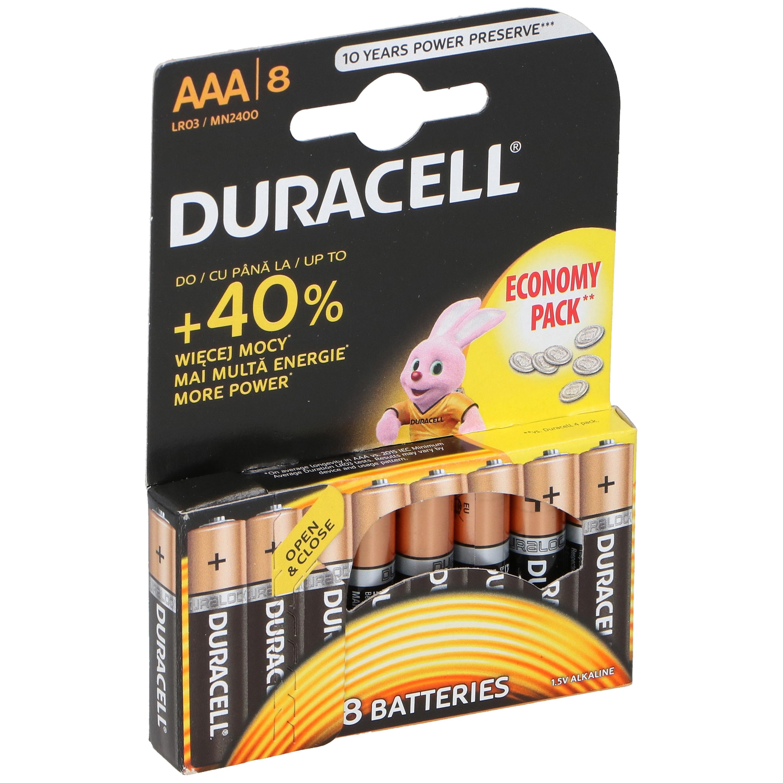 8x Duracell LR03 AAA batterijen