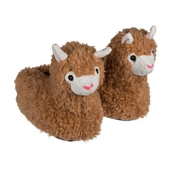 Alpaca/Lama dierensloffen voor jongens maat 31/32