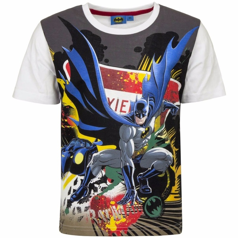Batman T-shirt witte mouw
