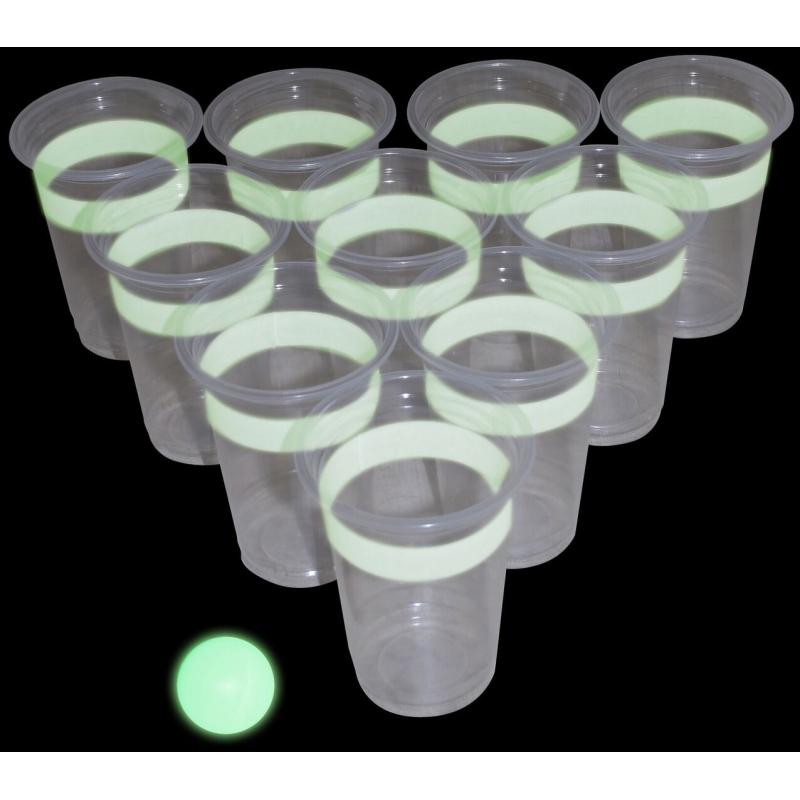 Beerpong drankspelletjes glow in the dark