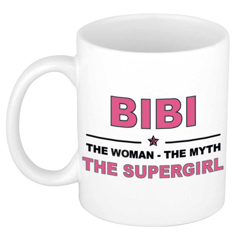 Bibi The woman, The myth the supergirl verjaardagscadeau mok-beker keramiek 300 ml