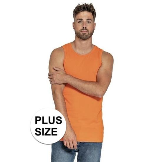 Big size oranje tops/hemden voor heren